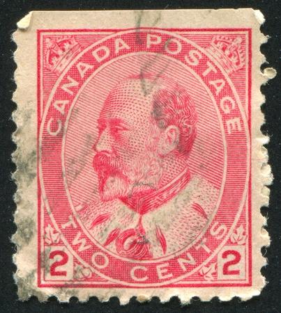 CANADA - CIRCA 1905: stamp printed by Canada, shows King Edward VII, circa 1905 Stock Photo - 9834334