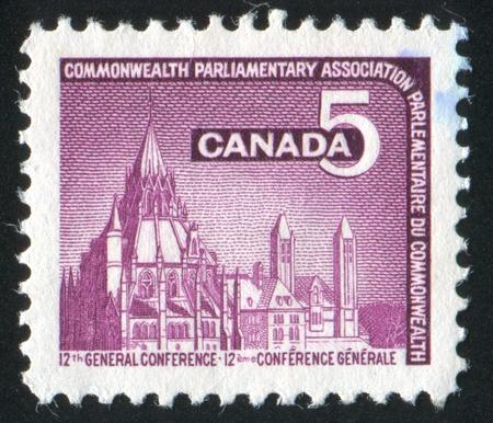CANADA - CIRCA 1966: stamp printed by Canada, shows Parliamentary Lybrary, Ottawa, circa 1966 photo