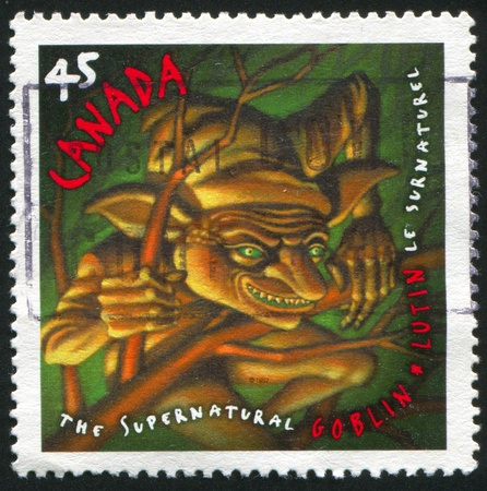 canada stamp: CANADA - CIRCA 1997: stamp printed by Canada, shows Goblin, circa 1997
