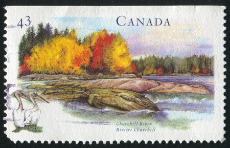 CANADA - CIRCA 1994: stamp printed by Canada, shows Churchill River, circa 1994 Stock Photo - 9834602