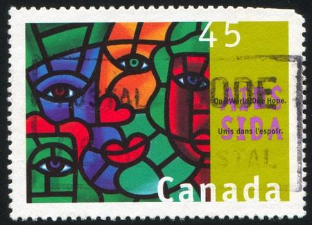 CANADA - CIRCA 1996: stamp printed by Canada, shows AIDS Awareness, circa 1996 photo