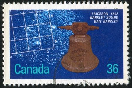 ericsson: CANADA - CIRCA 1987: stamp printed by Canada, shows Shipwrecks, Ericsson, 1892, circa 1987 Stock Photo