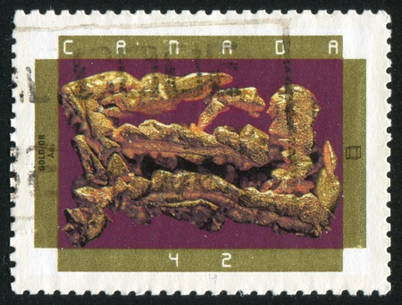 CANADA - CIRCA 1992: stamp printed by Canada, shows Minerals, Gold, circa 1992 Stock Photo - 9834620