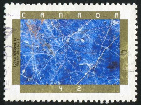 lapis: CANADA - CIRCA 1992: stamp printed by Canada, shows Minerals, Sodalite, circa 1992