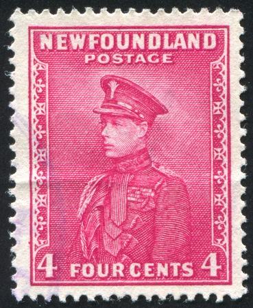 NEWFAUNDLAND - CIRCA 1934: stamp printed by Newfoundland, shows Prince Of Wales, circa 1934 Stock Photo - 9834419