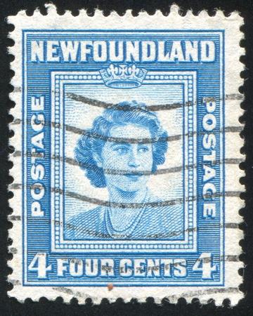 NEWFAUNDLAND  - CIRCA 1947: stamp printed by Newfoundland, shows Princess Elizabeth, circa 1947 Stock Photo - 9834438