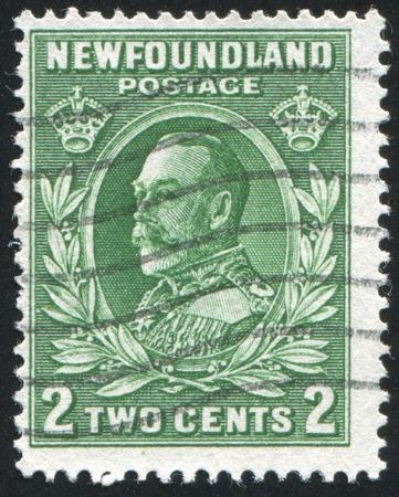 NEWFAUNDLAND  - CIRCA 1935: stamp printed by Newfoundland, shows George V, circa 1935 Stock Photo - 9834397