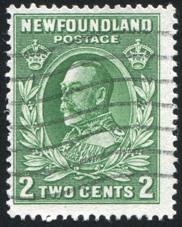 NEWFAUNDLAND  - CIRCA 1935: stamp printed by Newfoundland, shows George V, circa 1935 Stock Photo - 9834397