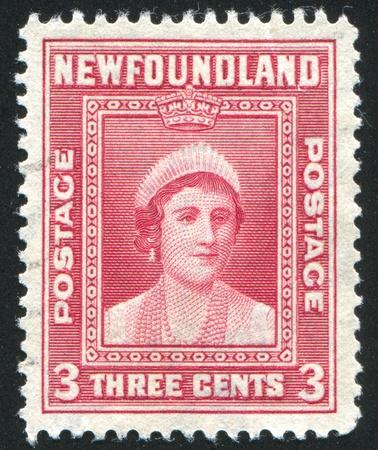 NEWFAUNDLAND  - CIRCA 1938: stamp printed by Newfoundland, shows Queen Elizabeth, circa 1938 Stock Photo - 9834452