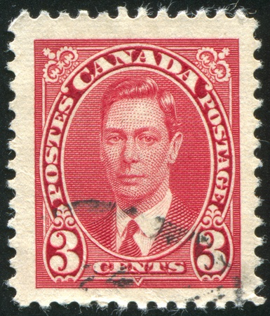 CANADA - CIRCA 1937: stamp printed by Canada, shows George VI, Tree Cents, circa 1937 Stock Photo - 9958013
