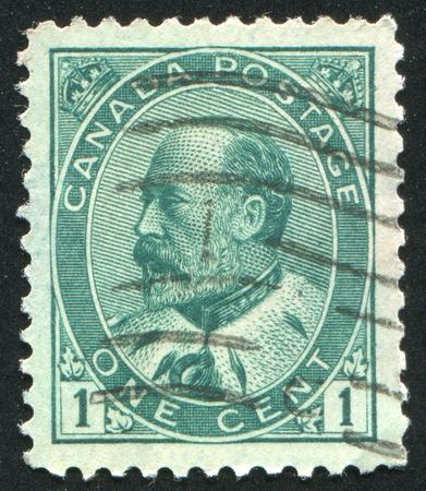 king edward: CANADA - CIRCA 1905: stamp printed by Canada, shows King Edward VII, circa 1905