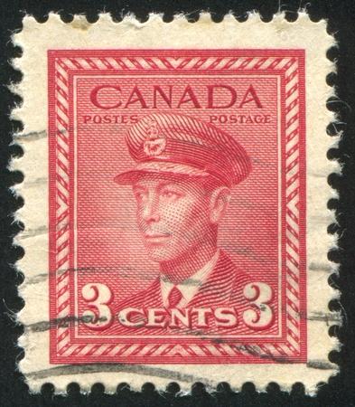 CANADA - CIRCA 1942: stamp printed by Canada, shows King George VI, circa 1942 Stock Photo - 9958014