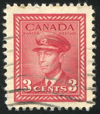 CANADA - CIRCA 1942: stamp printed by Canada, shows King George VI, circa 1942 Stock Photo - 9958014