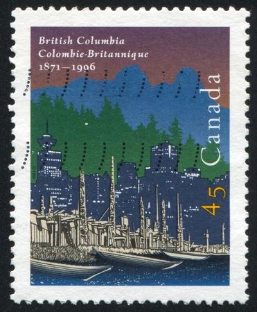 confederation: CANADA - CIRCA 1996: stamp printed by Canada, shows British Columbia's Entry Into Confederation 125th Anniv., circa 1996