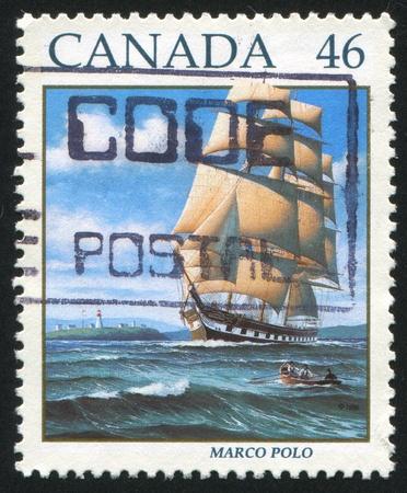 CANADA - CIRCA 1999: stamp printed by Canada, shows Sailing Ship Marco Polo, circa 1999 photo