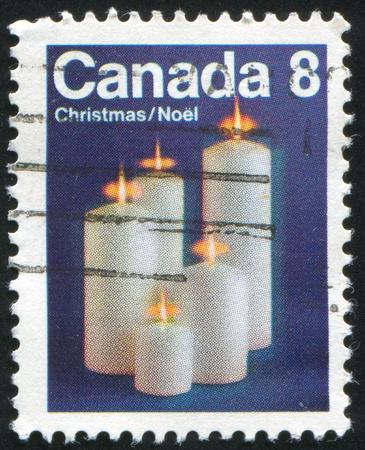 CANADA - CIRCA 1972: stamp printed by Canada, shows Candles, circa 1972 photo