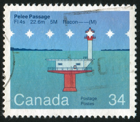 window seal: CANADA - CIRCA 1985: stamp printed by Canada, shows Pelee Passage, circa 1985