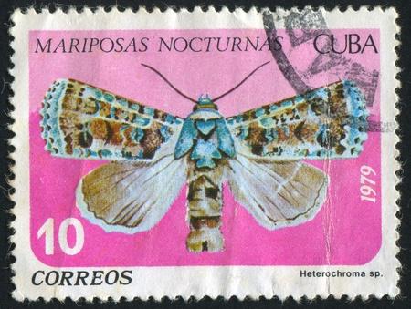 cuba butterfly: CUBA - CIRCA 1979: stamp printed by Cuba, shows butterfly Heterochroma, circa 1979