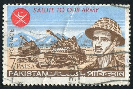 PAKISTAN - CIRCA 1965: stamp printed by Pakistan, shows officer, circa 1965. Stock Photo - 9957956