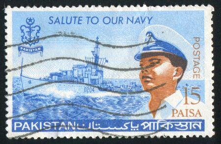 PAKISTAN - CIRCA 1965: stamp printed by Pakistan, shows officer, circa 1965. Stock Photo - 9957839