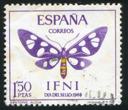 SPAIN - CIRCA 1966: stamp printed by Spain, shows butterfly, circa 1966. photo