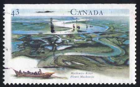 CANADA - CIRCA 1994: stamp printed by Canada, shows Mackenzie River, circa 1994 photo