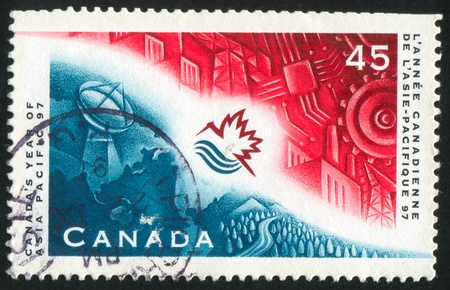 asia pacific: CANADA - CIRCA 1997: stamp printed by Canada, shows Asia Pacific Year, circa 1997