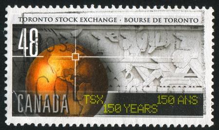 CANADA - CIRCA 2002: stamp printed by Canada, shows Toronto Stock Exchange, 150th Anniv., circa 2002 Stock Photo - 9981070