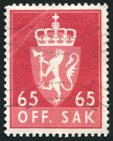 NORWAY - CIRCA 1968: stamp printed by Norway, shows Norway Coat of Arms, circa 1968 photo