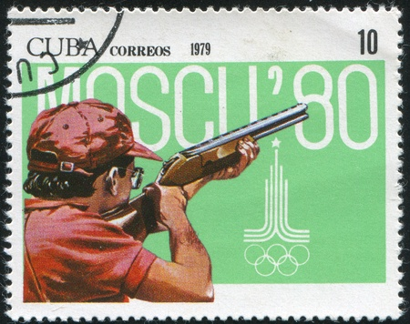 CUBA - CIRCA 1979: stamp printed by Cuba, shows Summer s, Shooting, circa 1979 Stock Photo - 10000790