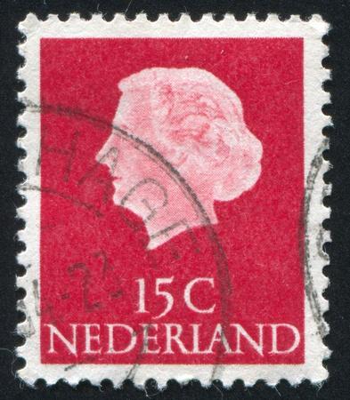 juliana: NETHERLANDS - CIRCA 1953: stamp printed by Netherlands, shows Queen Juliana, circa 1953