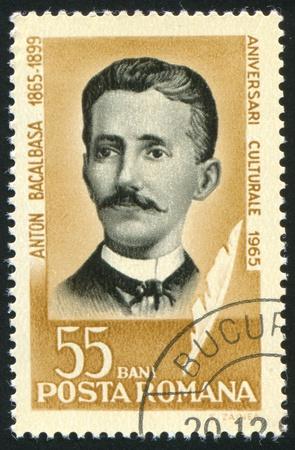anton: ROMANIA - CIRCA 1965: stamp printed by Romania, show Anton Bacalbasa, writer, circa 1965.