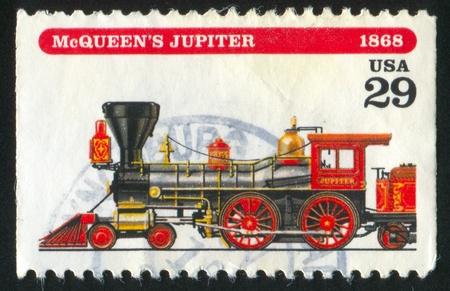 postmark: VEREINIGTE STAATEN - CIRCA 1994: Stempel von United States gedruckt, zeigt Lokomotive, circa 1994