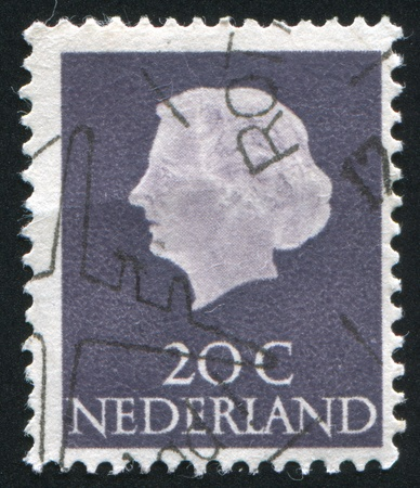 juliana: NETHERLANDS - CIRCA 1953: stamp printed by Netherlands, shows Queen Juliana, circa 1953