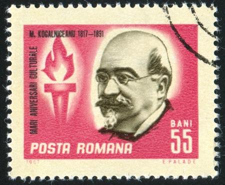 statesman: ROMANIA - CIRCA 1967: stamp printed by Romania, show Kogalniceanu, statesman, circa 1967. Editorial