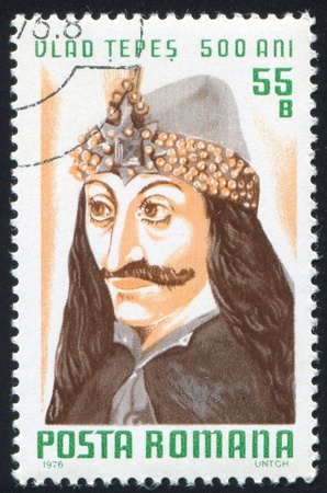 ROMANIA - CIRCA 1976: stamp printed by Romania, show Vlad Tepes, circa 1976. Stock Photo - 10071779