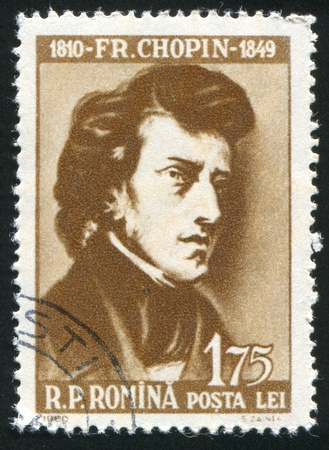 chopin: ROMANIA - CIRCA 1960: stamp printed by Romania, show Frederick Chopin, circa 1960. Editorial