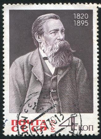 friedrich: RUSSIA - CIRCA 1970: stamp printed by Russia, shows Friedrich Engels, circa 1970