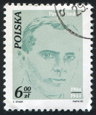 finder: POLAND - CIRCA 1982: stamp printed by Poland, shows Workers Activists, Pawel Finder (1904-1944), circa 1982