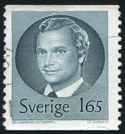 king carl xvi gustaf: SWEDEN - CIRCA 1981: stamp printed by Sweden, shows King Carl XVI Gustaf, circa 1981. Editorial