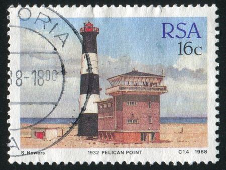 SOUTH AFRICA - CIRCA 1988: stamp printed by South Africa, shows lighthouse, circa 1988. photo