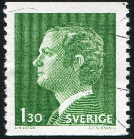 gustaf: SWEDEN - CIRCA 1974: stamp printed by Sweden, shows King Carl XVI Gustaf, circa 1974.