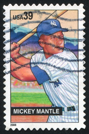 UNITED STATES - CIRCA 2006: stamp printed by United states, shows Mickey Mantle, circa 2006