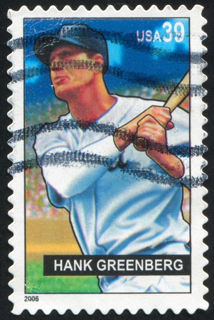 UNITED STATES - CIRCA 2006: stamp printed by United states, shows baseball, Hank Greenberg, circa 2006 Stock Photo - 10273262