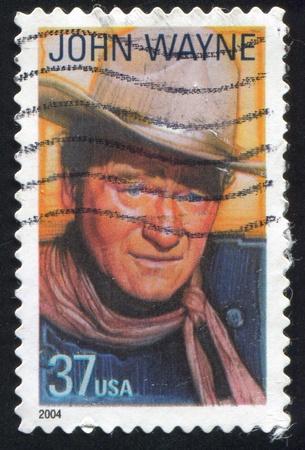 john wayne: UNITED STATES - CIRCA 2004: stamp printed by United states, shows John Wayne, Actor, circa 2004 Editorial