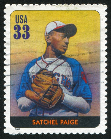 UNITED STATES - CIRCA 2000: stamp printed by United states, shows baseball, Satchel Paige, circa 2000 Stock Photo - 10273134