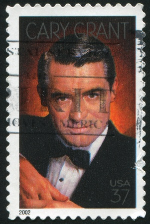 cary: UNITED STATES - CIRCA 2002: stamp printed by United states, shows Cary Grant, Actor, circa 2002