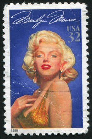 UNITED STATES - CIRCA 1995: stamp printed by United states, shows Marilyn Monroe, circa 1995