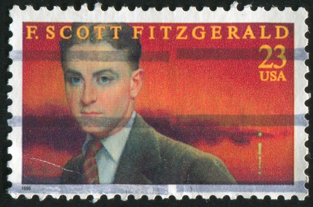 UNITED STATES - CIRCA 1996: stamp printed by United states, shows Scott Fitzgerald, circa 1996 Editorial