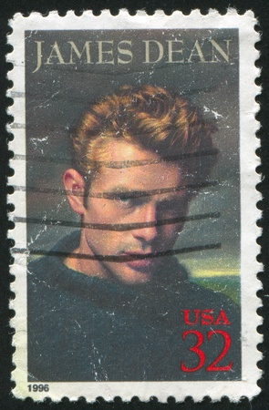 dean: UNITED STATES - CIRCA 1996: stamp printed by United states, shows James Dean, circa 1996 Editorial